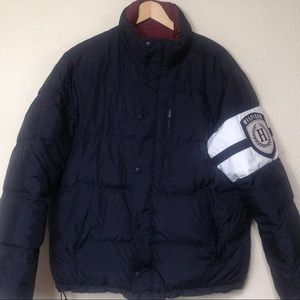 VTG Men's Large Tommy Hilfiger Black Down Jacket